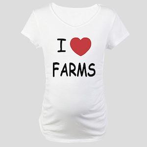 I heart farms Maternity T-Shirt
