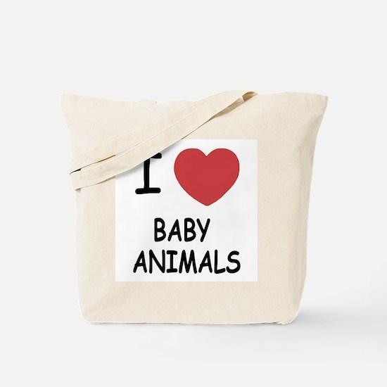 I heart baby animals Tote Bag