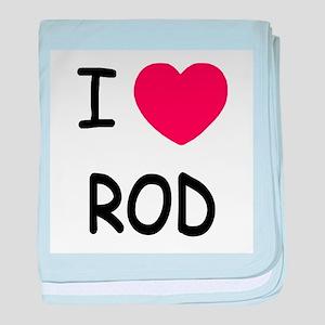 I heart rod baby blanket