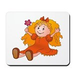 Girl With Flower Mousepad