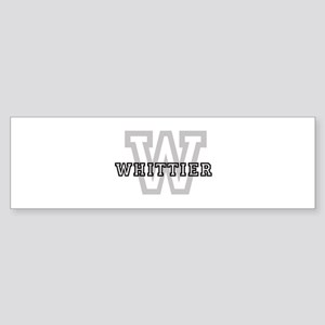 Letter W: Whittier Bumper Sticker