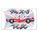 MX-5 UK MK II Sticker (Rectangle 50 pk)