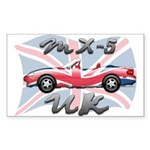 MX-5 UK MK II Sticker (Rectangle 10 pk)