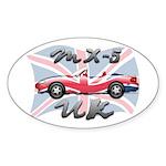 MX-5 UK MK II Sticker (Oval 10 pk)