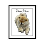 Chow Chow Dog Framed Panel Print