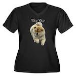 Chow Chow Dog Women's Plus Size V-Neck Dark T-Shir