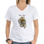 Chow Chow Dog Women's V-Neck T-Shirt
