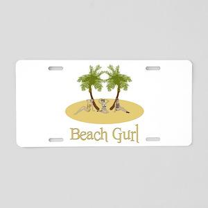 Beach Gurl Aluminum License Plate