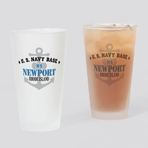 US Navy Newport Base Pint Glass