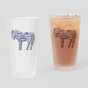 I LOVE HORSES Pint Glass