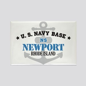 US Navy Newport Base Rectangle Magnet