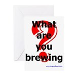 What Are You Brewing? Greeting Cards (Pk of 20)