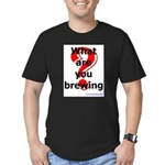 What Are You Brewing? Men's Fitted T-Shirt (dark)