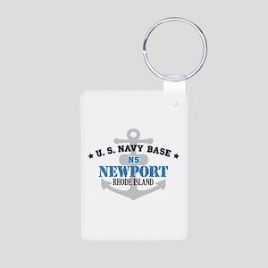 US Navy Newport Base Aluminum Photo Keychain
