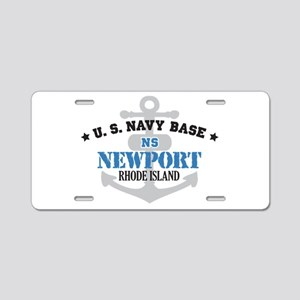 US Navy Newport Base Aluminum License Plate