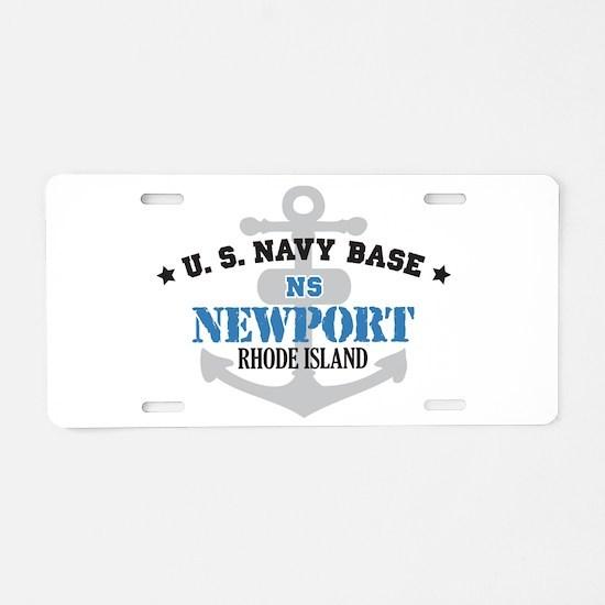 US Navy Newport Base Aluminum License Plate