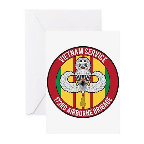 Vietnam 173rd Airborne Master Greeting Cards (Pk o