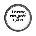 I brew the beer I fart Wall Clock