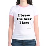 I brew the beer I fart Jr. Ringer T-Shirt