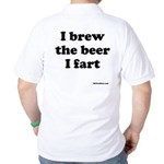 I Brew The Beer I Fart Golf Shirt
