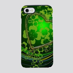Heart And Shamrocks iPhone 7 Tough Case
