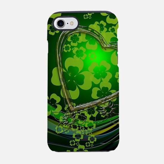 Heart And Shamrocks iPhone 7 Tough Case