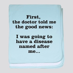 The Good News baby blanket