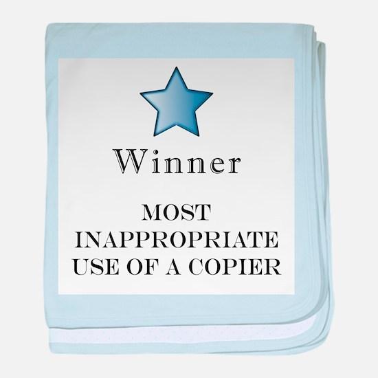 The Photocopier Award baby blanket