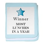 Thee Free Lunch Award - baby blanket