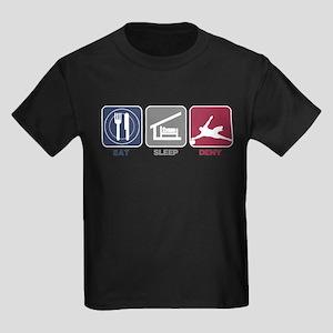 Eat Sleep Deny Kids Dark T-Shirt