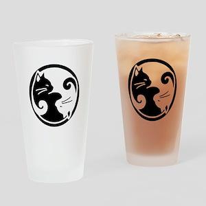 Yin Yang Cats Pint Glass