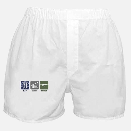 Eat Sleep Shoot Boxer Shorts