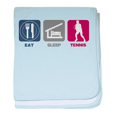 Eat Sleep Tennis - Man baby blanket