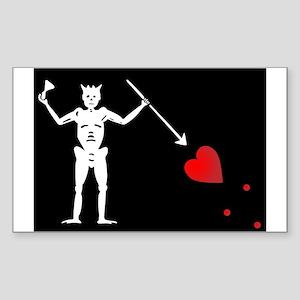 Blackbeard's Pirate Flag Sticker (Rectangle)