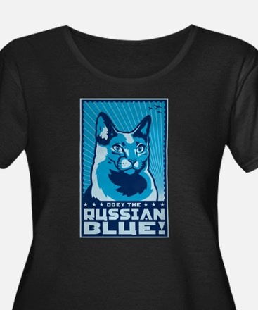 russian_blue_4dark Plus Size T-Shirt