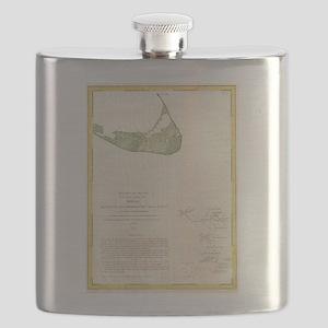 Vintage Map of Nantucket Massachusetts (1846 Flask