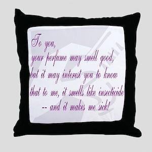 Stinky Perfume Throw Pillow