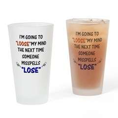 Loose vs Lose Pint Glass