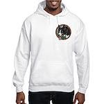 Fawn's Tri Hooded Sweatshirt pocket area