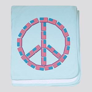 USA Peace baby blanket