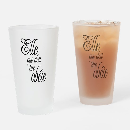 She who must be obeyed (Frenc Pint Glass