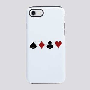 Four Card Suits iPhone 7 Tough Case