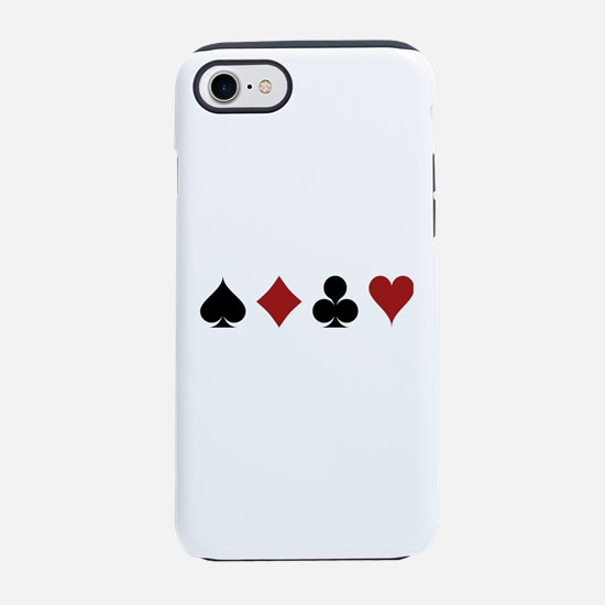 Four Card Suits iPhone 7 Tough Case
