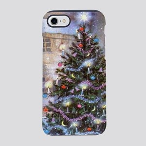 Vintage Christmas Tree iPhone 7 Tough Case