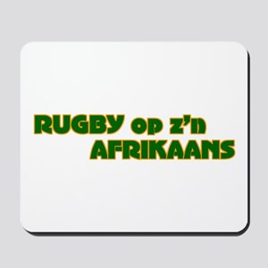South African Rugby Afrikaans Mousepad
