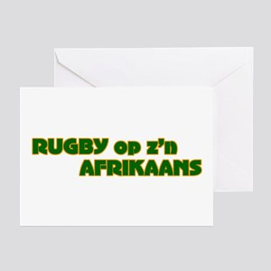 South african rugby greeting cards cafepress south african rugby afrikaans greeting cards pack m4hsunfo Images