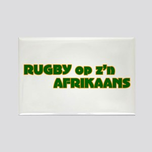 South African Rugby Afrikaans Rectangle Magnet