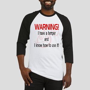 Temper Warning Baseball Jersey