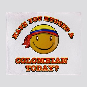 Have you hugged a Colombian today? Throw Blanket