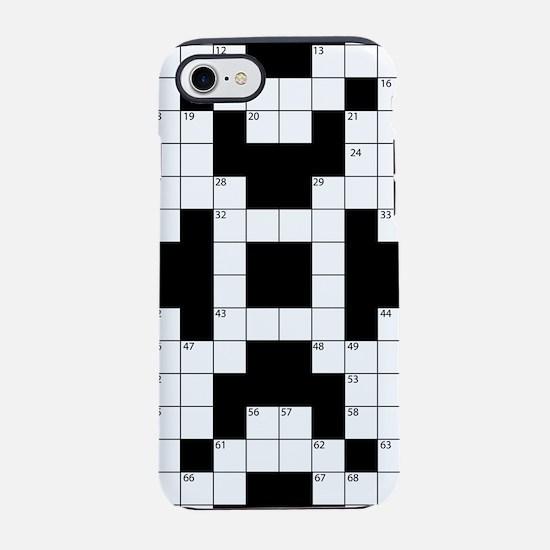 Crossword Pattern Decorative iPhone 7 Tough Case